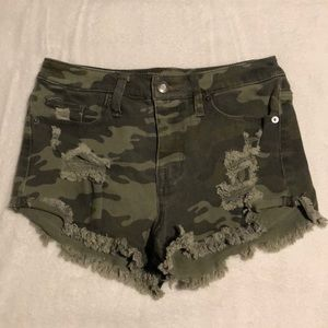 Mossimo High Rise Camouflage Short Size 0 NWOT